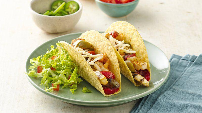 Stand 'N Stuff™ Chicken Fajita Tacos