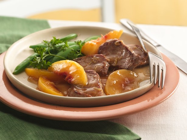 Ginger-Peach Pork Medallions