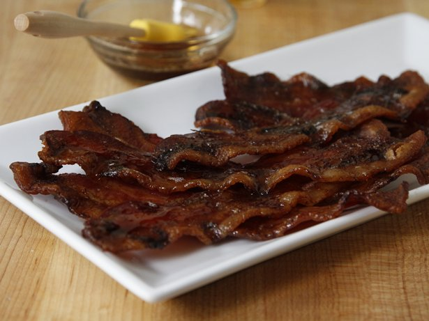 Maple-Brushed Bacon