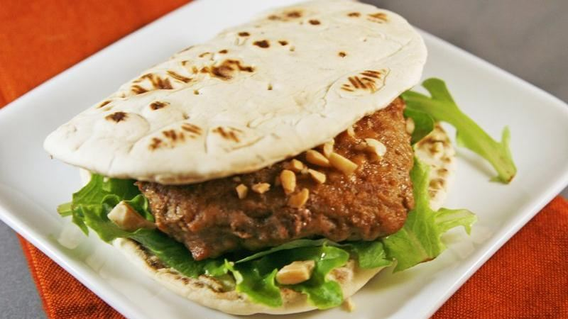 Baked Satay Burgers