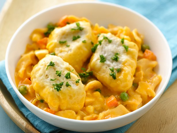 Cheesy Chicken and Dumplings