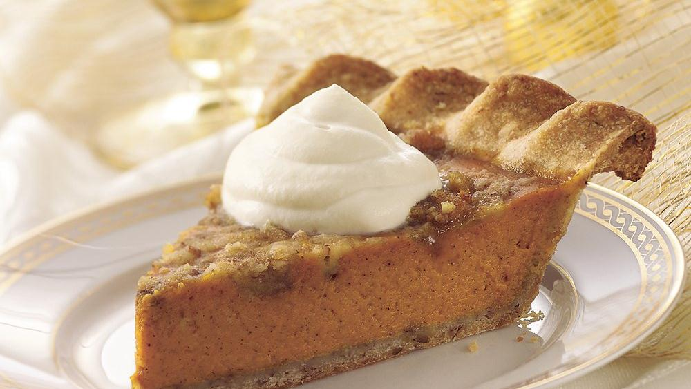 Pecan-Crusted Pumpkin Pie recipe from Pillsbury.com