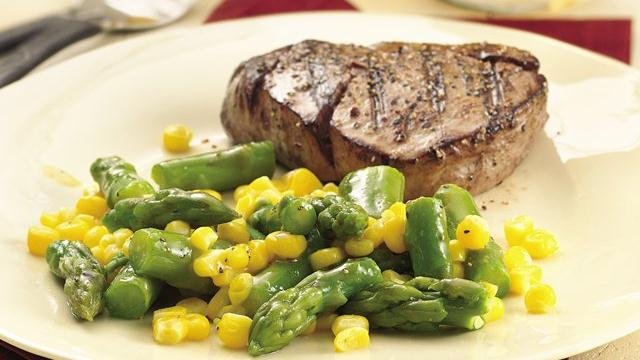 Image of Asparagus And Corn With Honey-mustard Glaze, Pillsbury