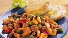 Barbecue Beef and Vegetable Skillet Recipe