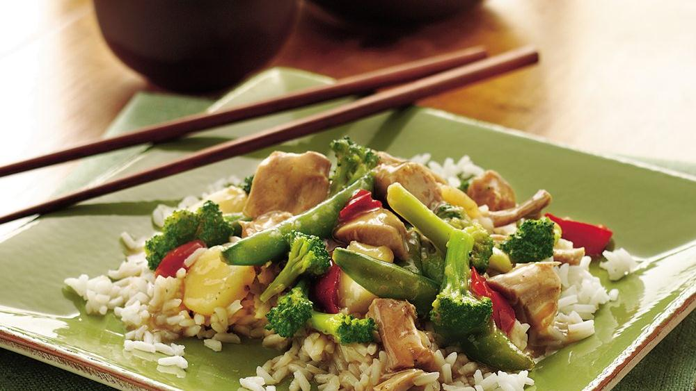 slow cooker asian turkey and vegetables recipe from