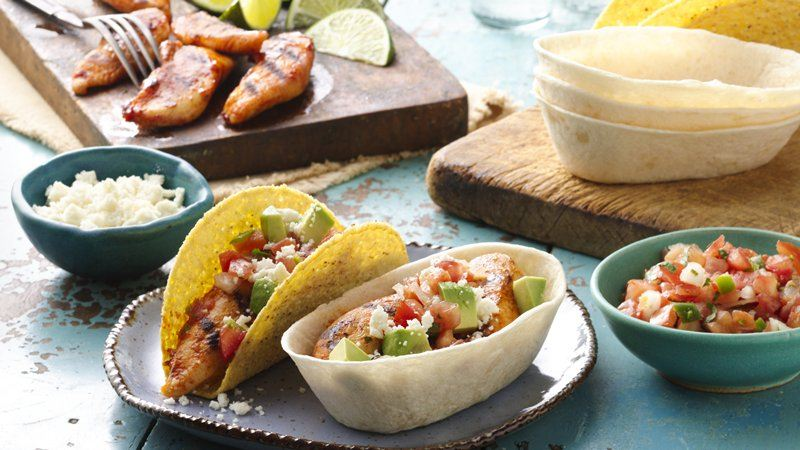 Grilled Chicken Ten Minute Tacos