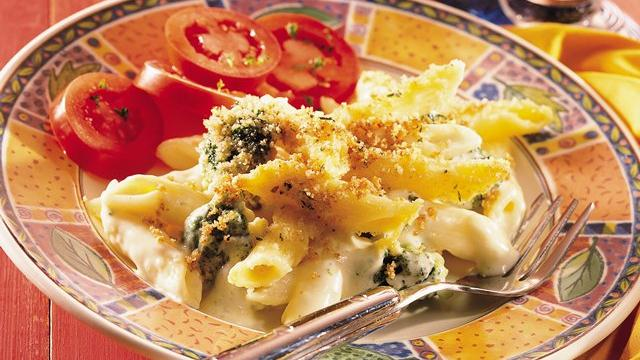 Penne and Cheese Gratin