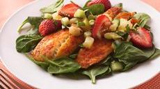 Tilapia Salad with Strawberry-Pineapple Salsa Recipe