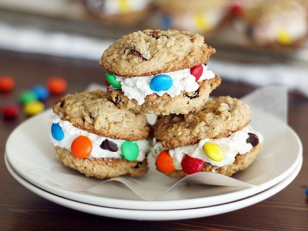 Monster Cookie Ice Cream Sandwiches