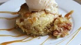 Caramel Apple Oatmeal Cobbler