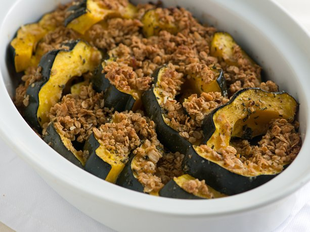 Granola Crusted Acorn Squash