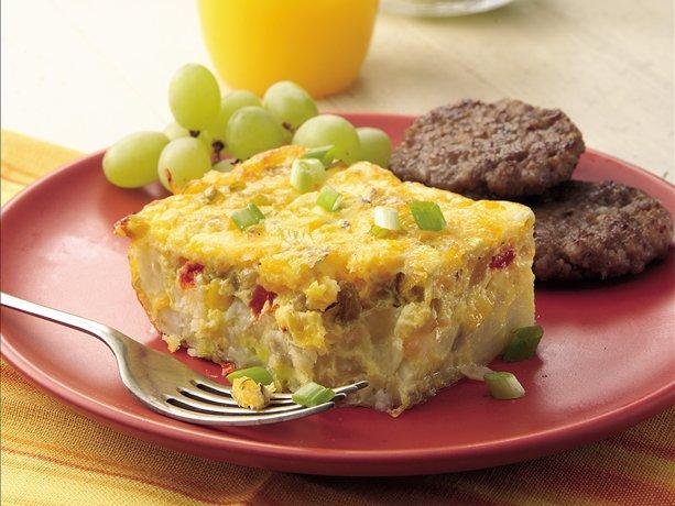 Green Chile, Egg and Potato Bake