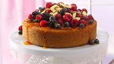 Fruit-Topped Almond Cake Recipe