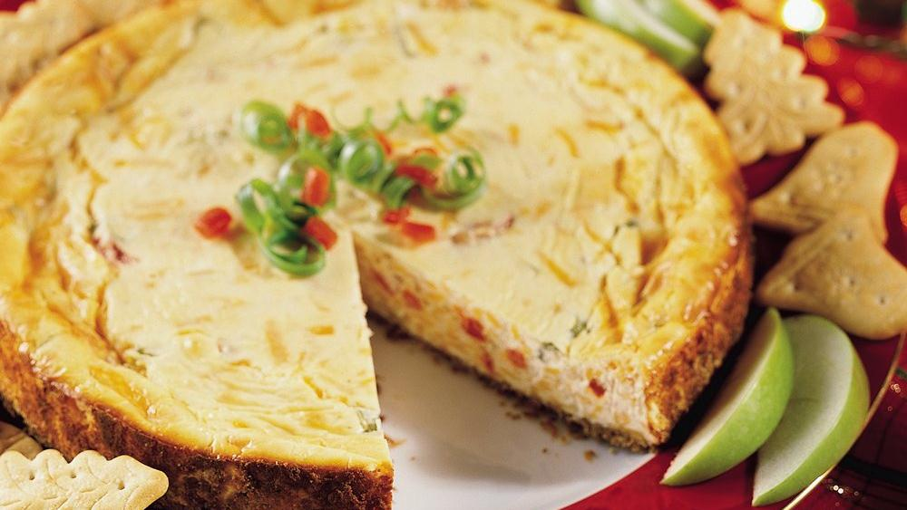 Sharp Cheddar Cheesecake