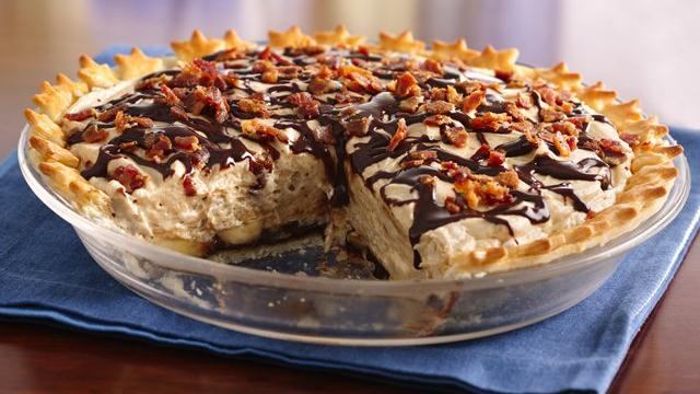 Chocolate-Peanut Butter Pie with Bacon Recipe