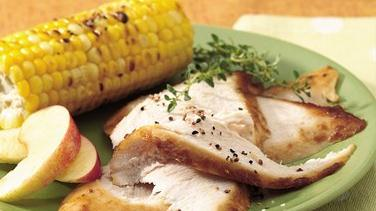 Grilled Turkey Breast with Honey-Apple Glaze
