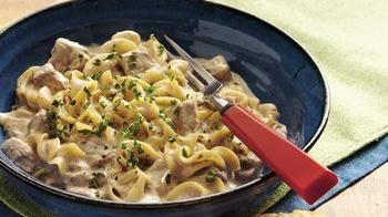 Slow-Cooker Beef Stroganoff Stew (Cooking for Two)