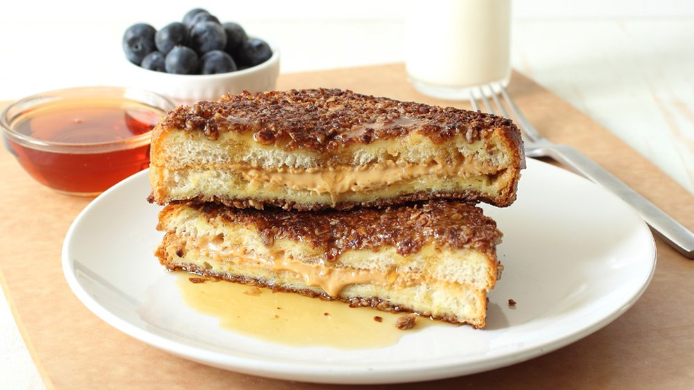 Peanut Butter-Stuffed Granola French Toast recipe from Pillsbury.com