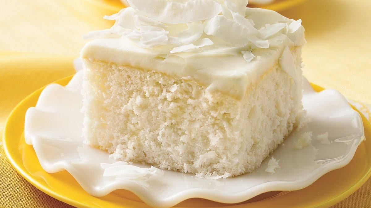 Coconut Cake with White Chocolate Frosting - Life Made Delicious