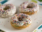 Baked Confetti Doughnuts