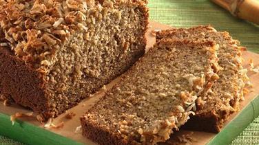 Crunchy Banana-Colada Bread