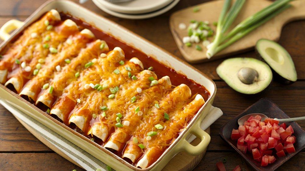 Easy Beef Enchiladas recipe from Pillsbury.com