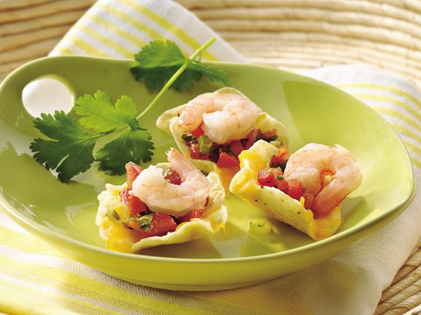 Shrimp-Salsa Nachos