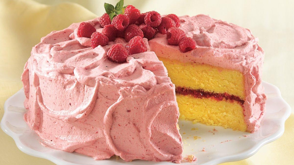 Lemon Cake with Raspberry Mousse - Life Made Delicious