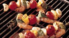 Grilled Shrimp Kabobs with Fresh Herbs Recipe