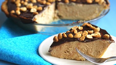 Chocolate Ganache-Peanut Butter Pie