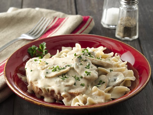 Smothered Pork Chops with Pasta