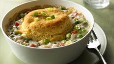 Biscuit-Topped Turkey Pot Pies Recipe