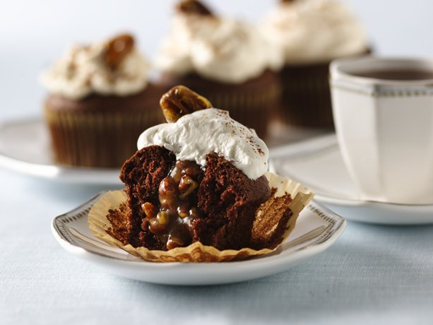 Image of Pecan Pie-filled Chocolate Cupcakes, Betty Crocker