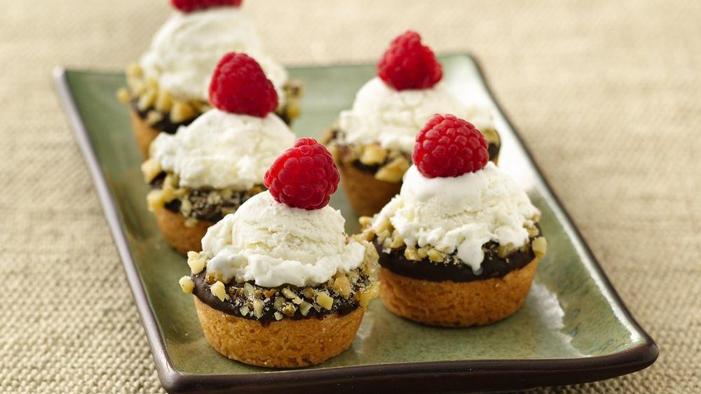 Mini Ice Cream Cookie Cups recipe from Pillsbury.com
