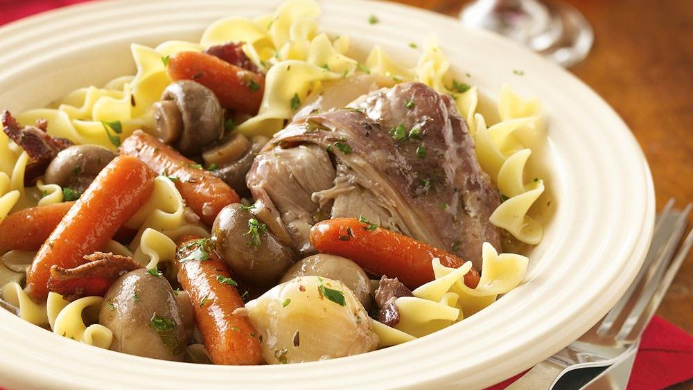 Slow-Cooker Chicken in Red Wine (Cooking for Two)