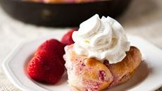 Strawberry Cream Cheese Skillet Monkey Bread Recipe
