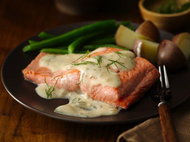 Lemon Garlic Dilled Salmon
