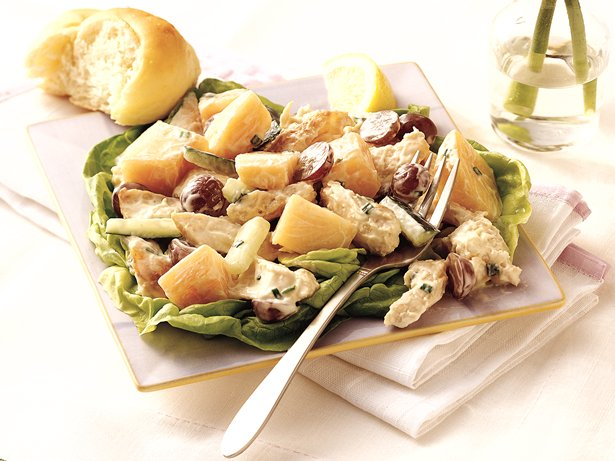 Cantaloupe and Chicken Salad