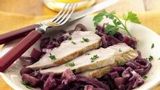 Slow Cooker Pork with Sweet-Sour Red Cabbage Recipe