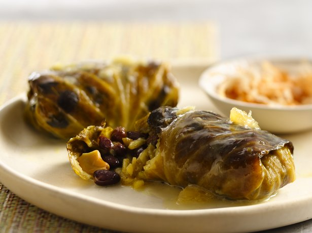Slow Cooker Tropical Stuffed Cabbage Rolls