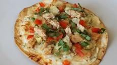 Salmon Artichoke and Smoked  Mozzarella Flatbreads with Tomato Basil Topping Recipe