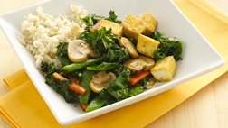Gluten Free Asian Kale and Tofu Stir-Fry