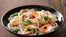 Shrimp Fettuccine Primavera  Recipe