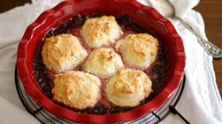 Biscuit and Strawberry Jam Cobbler