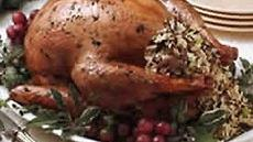 Stuffed Roasted Herb Turkey and Gravy Recipe