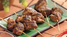Grilled Spicy Mini Pork Kabobs Recipe