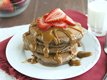 Mexican Chocolate Pancakes with Dulce de Leche