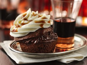 Boozy&#32;Bourbon&#32;Chocolate&#32;Cupcakes