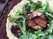 Roasted Bacon-Wrapped Pear Salad with Vinaigrette