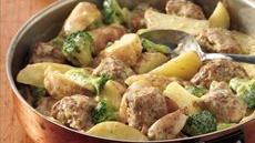 Creamy Meatballs and Potatoes Recipe